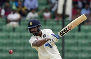Indian cricketer Murali Vijay plays shot